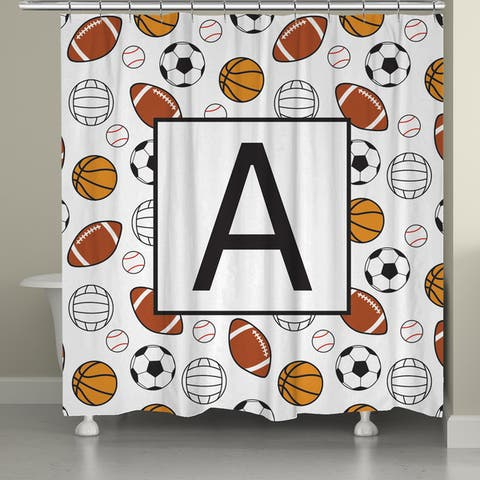Laural Home Sports Monogram Shower Curtain