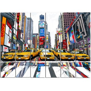 Maxwell Dickson 'Time Square' Modern Canvas Wall Art