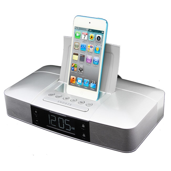 Capello Stereo FM Clock Alarm Radio with Lightning Dock f...
