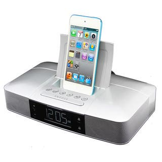 Capello Stereo FM Clock Alarm Radio with Lightning Dock for iPhone 5/5S and 6|https://ak1.ostkcdn.com/images/products/10846597/P17887133.jpg?impolicy=medium