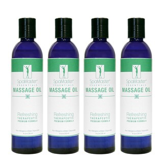 Master Massage 8-ounce Refreshing Aromatherapy Massage Oil (Pack of 4)