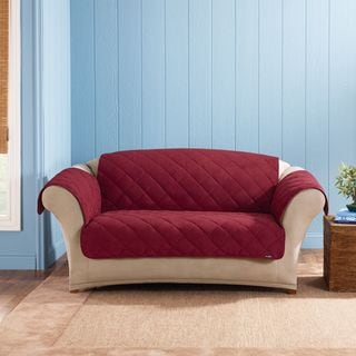 Sure Fit Soft Suede Sherpa Reversible Loveseat Pet Throw/Furniture Protector