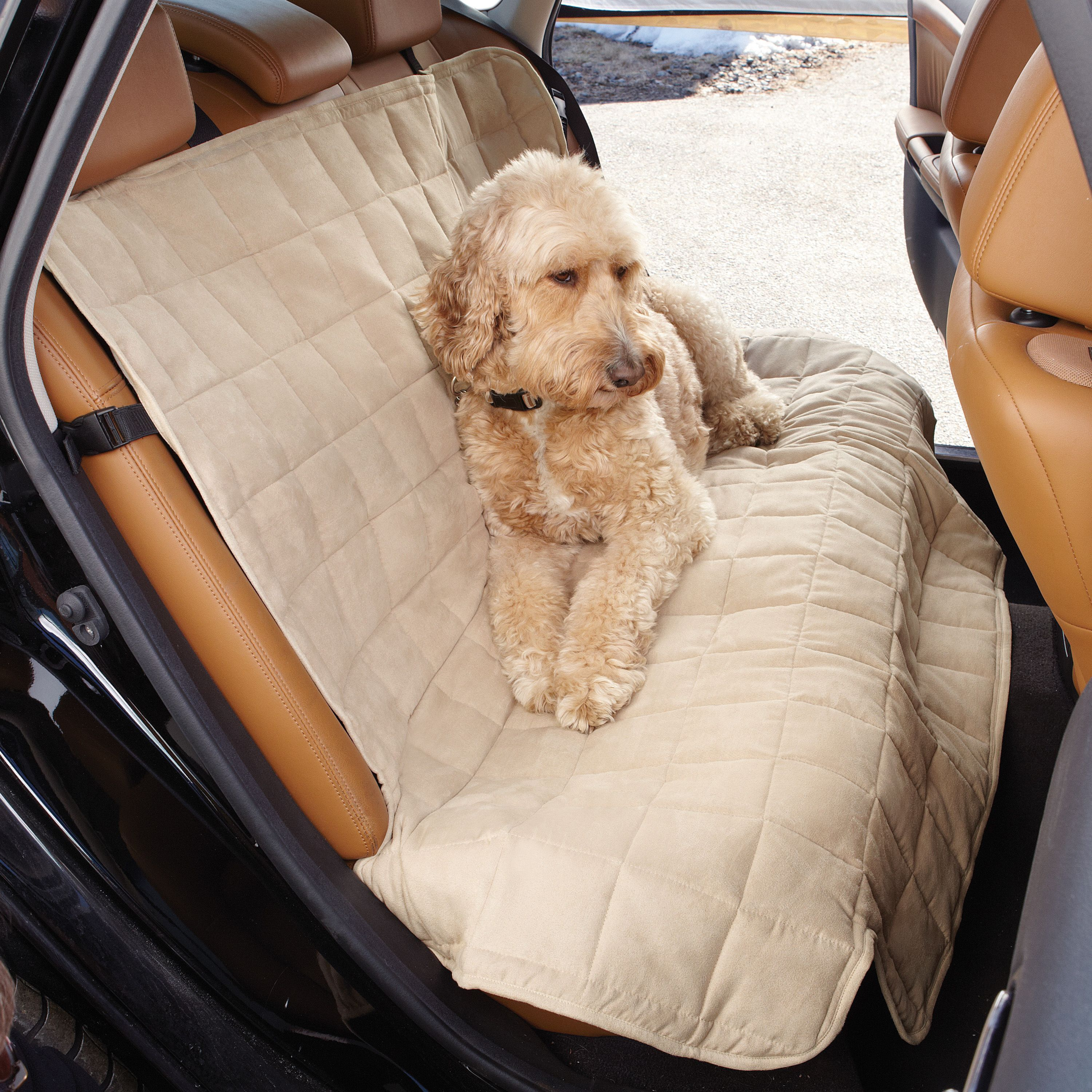 Sure Fit Soft Suede Sherpa Reversible Pet Cart Bench Seat...