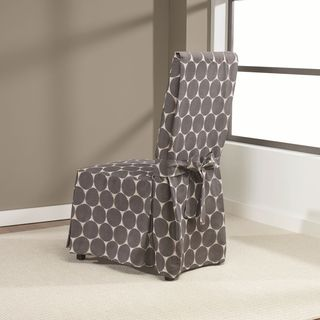 Sure Fit Ikat Dot Dining Room Chair Slipcover with Ties