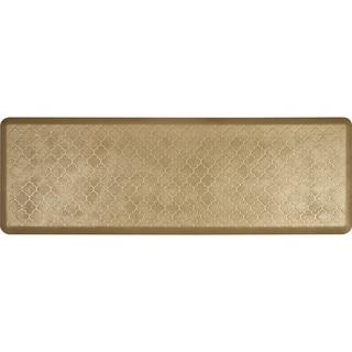 WellnessMats Aztec Gold 72 x 24-inch Estates Trellis Anti-Fatigue Floor Mat