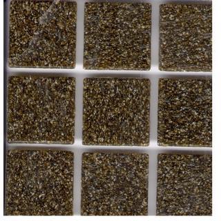 Solid Color Black Walnut Brown Brio 3/4-inch Glass Tile