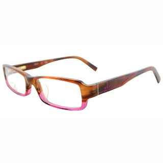 Calvin Klein Womens CK 5696 274 Brown Horn Fade To Pink Plastic Rectangle Eyeglasses-50mm