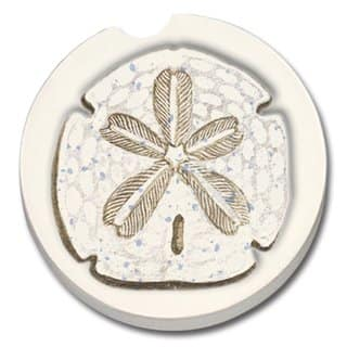 CounterArt Sand Dollar Absorbent Stone Car Coasters (Set of 2) https://ak1.ostkcdn.com/images/products/10846648/P17887274.jpg?impolicy=medium