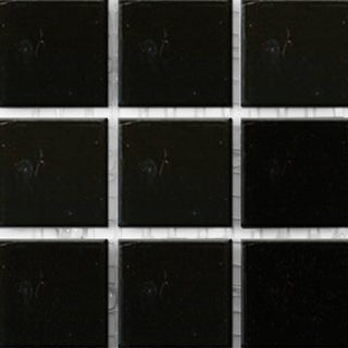 Solid Black Glass Brio 3/4-inch Mosaic Tile