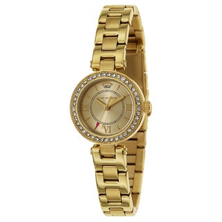 Juicy Couture Women's 'Luxe Couture' Stainless Steel Yellow Gold Ion Plated Quartz Watch