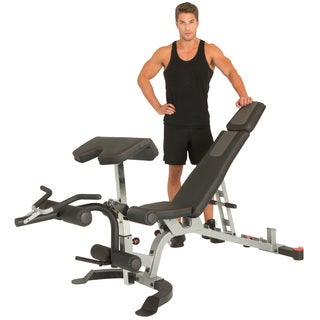 IRONMAN Triathlon X-Class Light Commercial Utility Weight Bench with Olympic Preacher Curl and Leg Developer Attachment