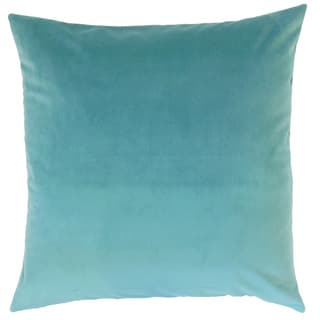 Nizar Blue Solid Feather and Down Filled Throw Pillow