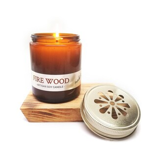 Fireside Soy Candle - Clear