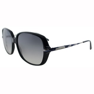 Giorgio Armani Womens GA 911 FNL Black Plastic Oversized Sunglasses-57mm