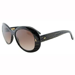Giorgio Armani Womens GA 907 XZW Croco Black Round Plastic Sunglasses-54mm