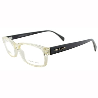 Giorgio Armani Mens GA 866 O4L Crystal Honey Plastic Rectangle Eyeglasses-54mm