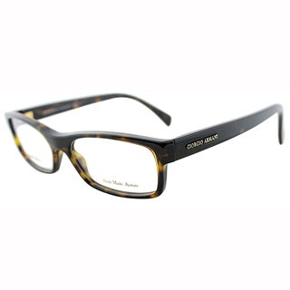 Giorgio Armani Mens GA 866 086 Dark Havana Plastic Rectangle Eyeglasses-54mm