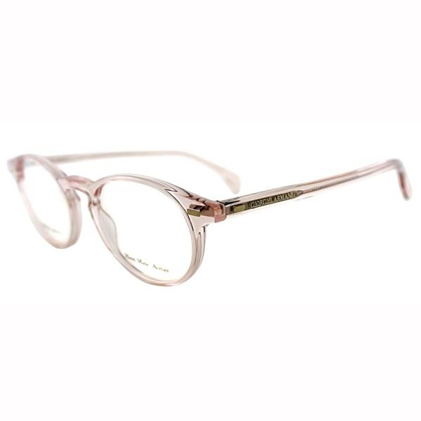 6db7f0524406 Giorgio Armani Unisex GA 786 829 Light Pink Transparent Round Plastic  Eyeglasses