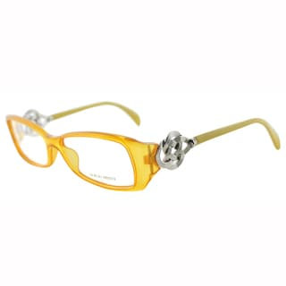 Giorgio Armani Womens GA 720 A5F Fire Yellow Rectangle Plastic Eyeglasses-53mm