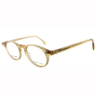 Giorgio Armani Unisex GA 786 HAM Sand Transparent Plastic Round Eyeglasses