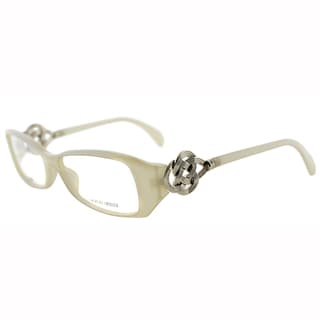 Giorgio Armani Womens GA 720 A57 Opal White Rectangle Plastic Eyeglasses-53mm