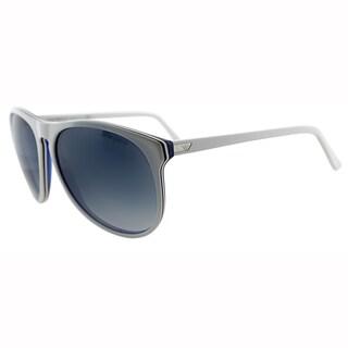 Emporio Armani Mens EA 9801 YVU White Plastic Wayfarer Plastic Sunglasses-57mm