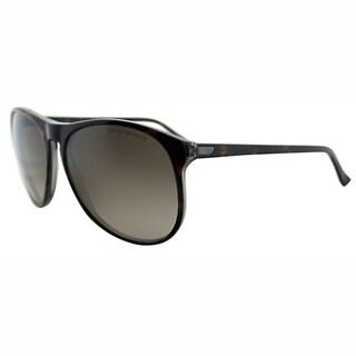 Emporio Armani Unisex EA 9801 YVS Brown Havana Wayfarer Plastic Sunglasses-57mm
