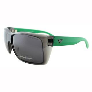 Emporio Armani Mens EA 9797 YWC Transparent Grey Square Plastic Sunglasses-61mm