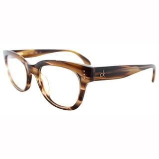 Calvin Klein Womens CK 5727 274 Brown Horn Cateye Plastic Eyeglasses-49mm