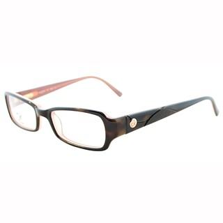 Calvin Klein Womens CK 5701 217 Dark Tortoise Rectangle Plastic Eyeglasses-46mm