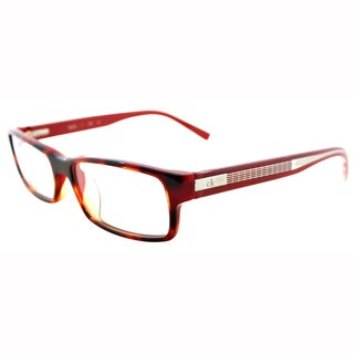 Calvin Klein Womens CK 5699 505 Red Havana Rectangle Plastic Eyeglasses-52mm