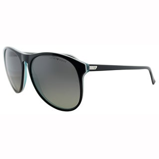 Emporio Armani Mens EA 9801 YVT Black Wayfarer Plastic Sunglasses-57mm