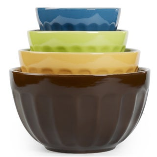 Cafe Stoneware Mixing Bowls (Set of 4)