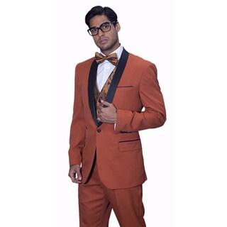 Link to Statement Men's Capri Brick Tuxedo Suit Similar Items in Suits & Suit Separates