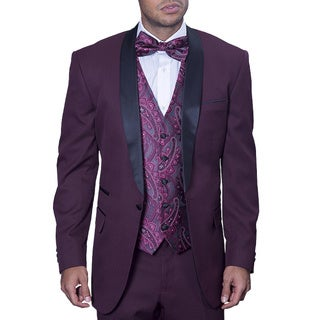 Statement Men's Capri Burgundy Tuxedo Suit