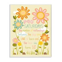 Stupell 940 Saturdays Floral Graphic Art Wall Plaque