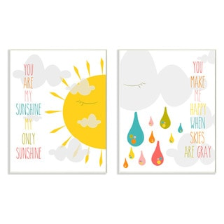 Stupell You Are My Sunshine Graphic 2-piece Wall Plaque Set