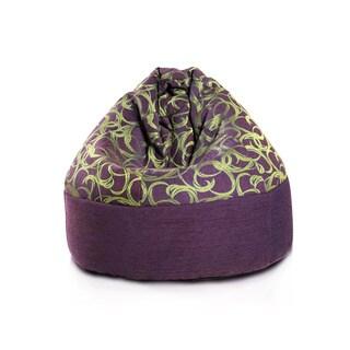 Cake Premium Balloon Violet Large Bean Bag Chair