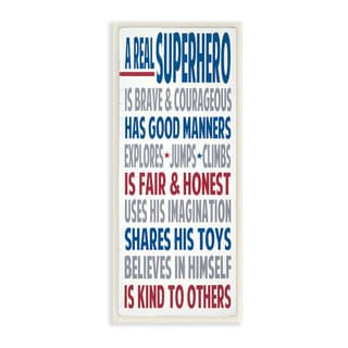 Stupell A Real Superhero Typography Art Wall Plaque