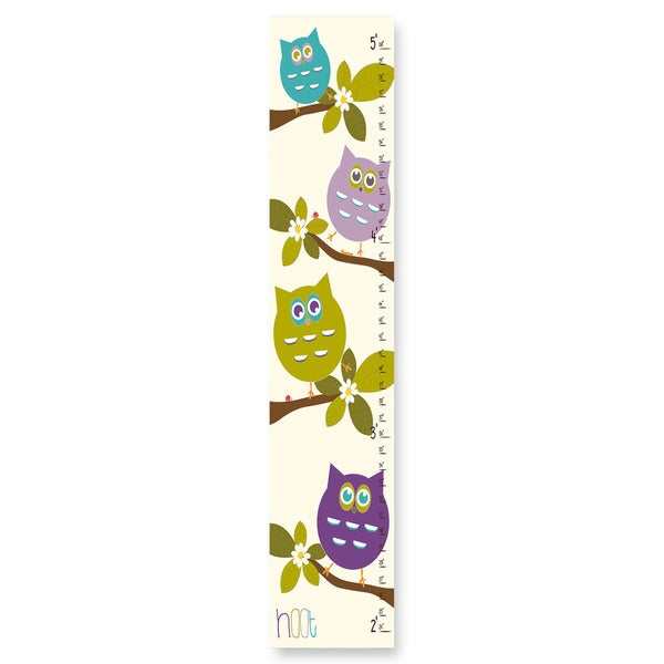 Shop Stupell Cute Owls Whimsical Growth Chart On Sale Free