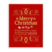 Stupell Merry Christmas Holiday Typography Art Wall Plaque