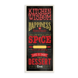 Stupell Kitchen Wisdom Black Typography Art Wall Plaque