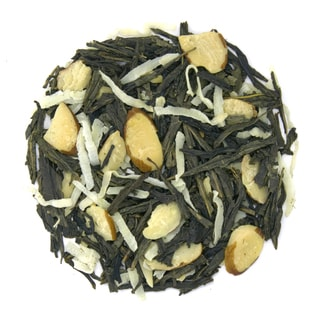 Coconut Almond 16-ounce Loose Leaf Green Tea