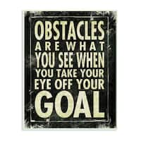 Stupell Obstacles are What You See Inspirational Art Wall Plaque