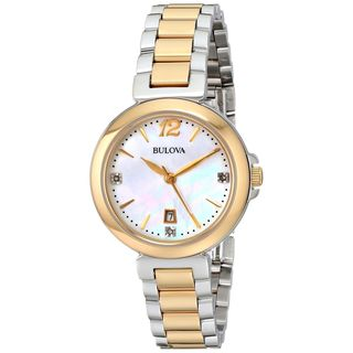 Bulova Women's 98P142 'Diamond' Two-Tone Stainless Steel Watch