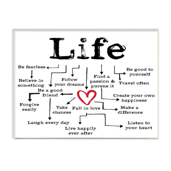 Stupell Life Path To Heart Inspirational Textual Art Wall Plaque On Sale Overstock 10847047
