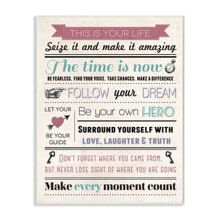 Stupell This is Your Life Infographic Style Inspirational Art Wall Plaque