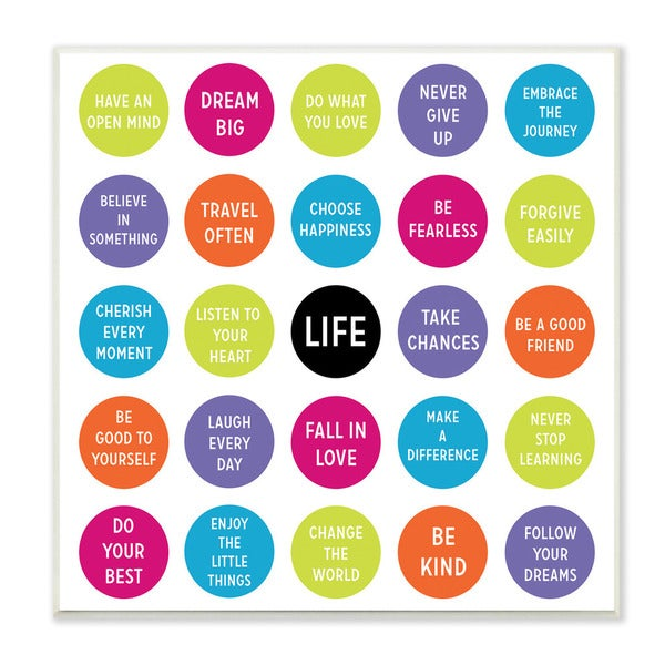 Stupell Life Must-Do's Inspirational Art Wall Plaque