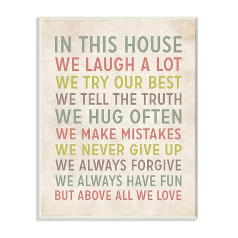 Stupell in This House We Inspirational Art Wall Plaque