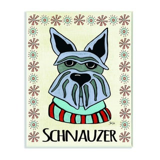 Stupell Whimsical Schnauzer Wearing Sweater Wall Plaque
